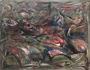 Alain GESTIN - Painting - Nature morte/ Morte nature
