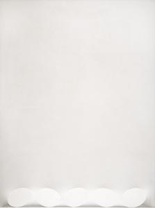 Turi SIMETI - Pintura - Cinque ovali in bianco