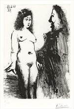 """Pablo PICASSO - Print-Multiple - Jeune prostituée et """"Mousquetaire"""", Pl.177 from 'Séries 347'"""