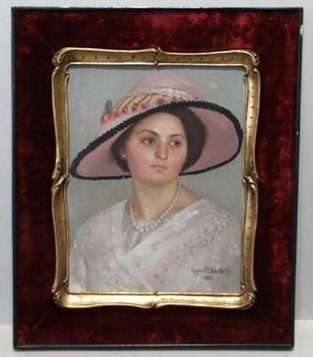 "Rudolf STERNAD - Peinture - ""Portrait of Countess Galiano"" by Rudolf Sternad"
