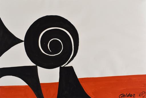 Alexander CALDER - Dessin-Aquarelle - Balanced Spiral