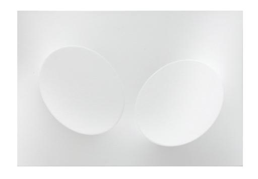 Turi SIMETI - Pittura - 2 ovali bianchi