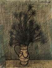 Bernard BUFFET - Dessin-Aquarelle - Fleurs dans un vase