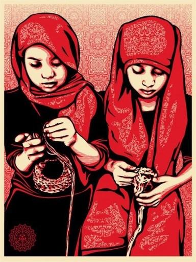 """谢帕德·费瑞 - 版画 - """"Close knit"""""""