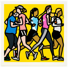 Julian OPIE - Estampe-Multiple - Running women