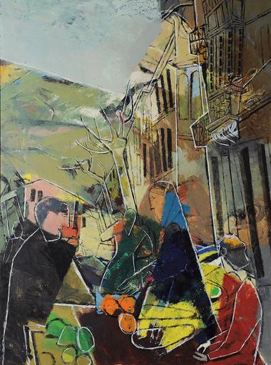 Xaver FUHR - Painting - Kleinstadtmarkt
