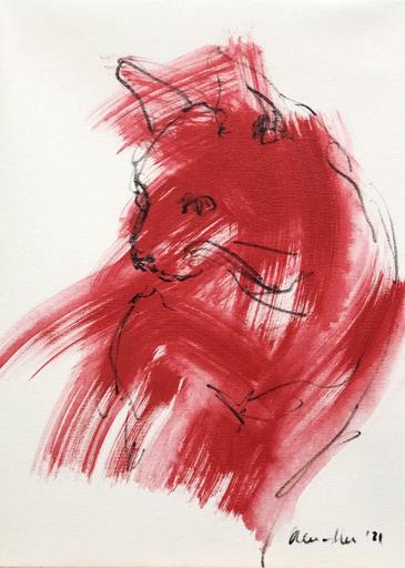 Nicole LEIDENFROST - Gemälde - Katzenkopf
