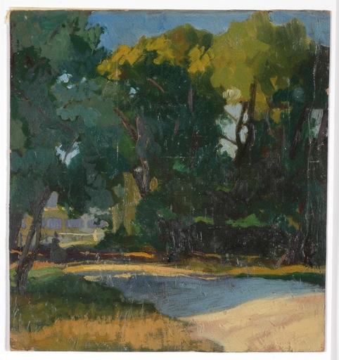 "Josef LACINA - Pintura - ""In Vienna Prater"" 1919, oil"