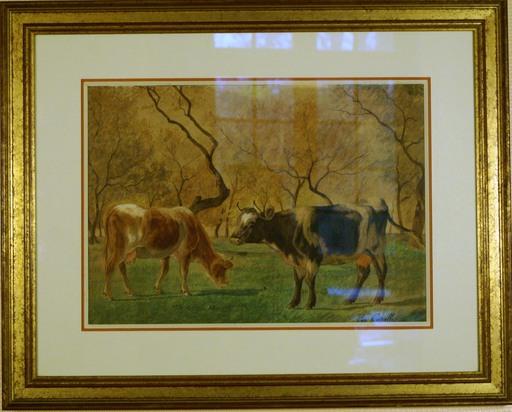 Eugène Alfred CAPELLE - Gemälde - Les vaches