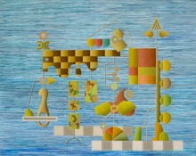 Enrique Rodriguez GUZPENA - Painting - El dia seis. Segundo acto