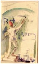 Roy PETLEY - Drawing-Watercolor - L'enseigne