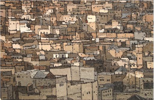 Olivier LAVOREL - Pittura - 1507 - Medina de Fez