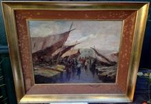 Oscar RICCIARDI - Pintura - Escena de mercado