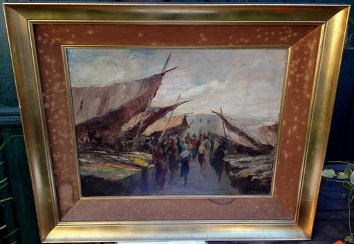 Oscar RICCIARDI - Painting - Escena de mercado