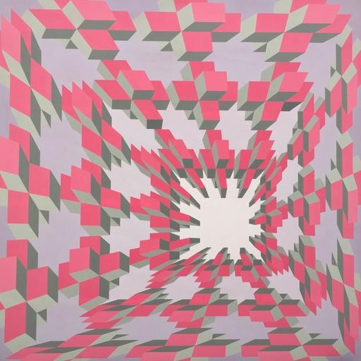 Guy POUPPEZ - Gemälde - composition cynetique