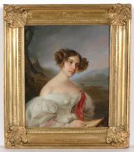 "Karl Josef Aloys AGRICOLA (Attrib.) - Painting - Carl Josef Agricola (1779-1852)-Attrib., ""Young lady"""