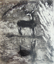 Marc CHAGALL (1887-1985) - The Stag who Sees Himself in the Water