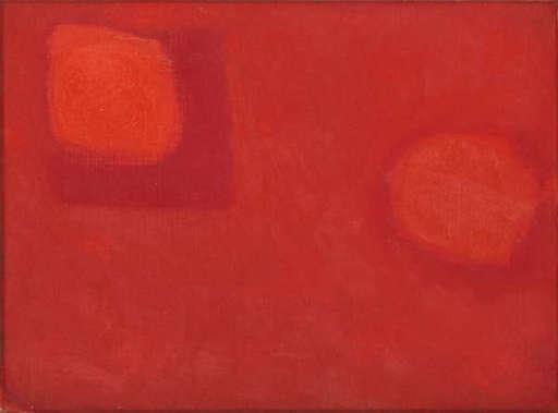 Patrick HERON - Painting - Floating Reds: December 1962
