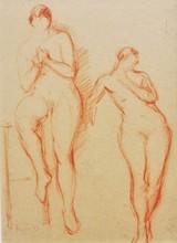 Georges KARS - Dibujo Acuarela - Nus \ Nude