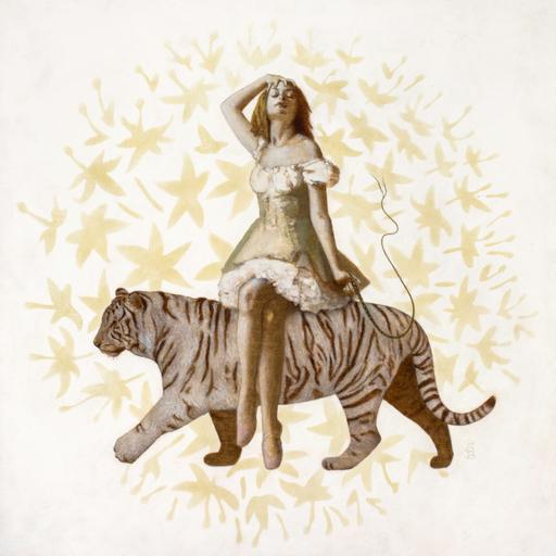 Deirdre SULLIVAN-BEEMAN - Painting - Tiger Girl