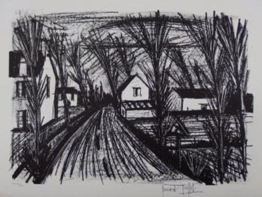 Bernard BUFFET - Grabado - Country road