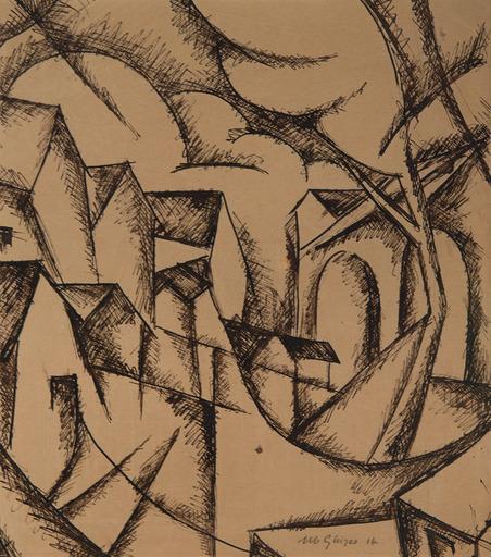 Albert GLEIZES - Dibujo Acuarela - Toul
