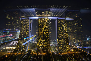 """Bruno PAGET - Photo - Singapore """"Fromm the Gardens by the Bay"""" #1"""