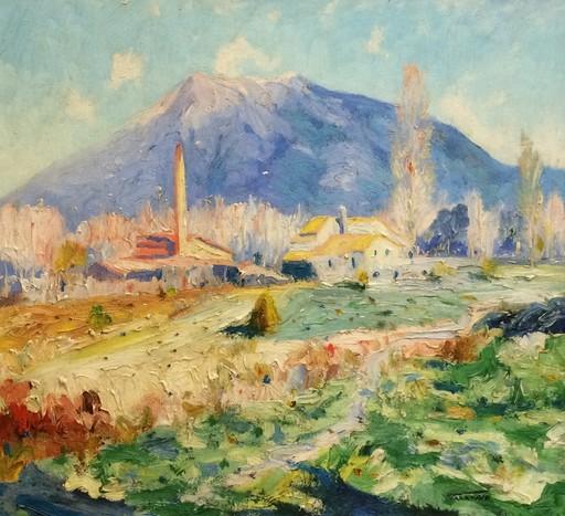 Casimir MARTINEZ TARRASSO - Painting - PAISAJE ALPINO