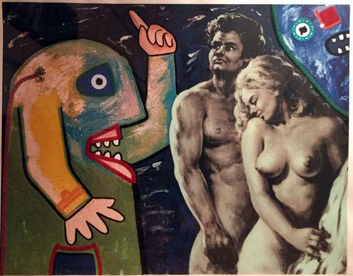 Enrico BAJ - Druckgrafik-Multiple - Adamo ed Eva