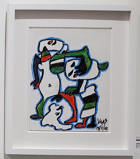 Oswaldo VIGAS - Peinture - Dos Personajes