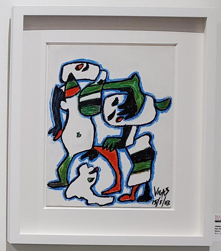 Oswaldo VIGAS - Painting - Dos Personajes