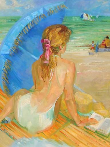 Paul COLLOMB - Painting - La baigneuse