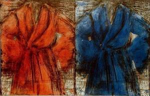 Jim DINE - Print-Multiple - Red and Blue Robe
