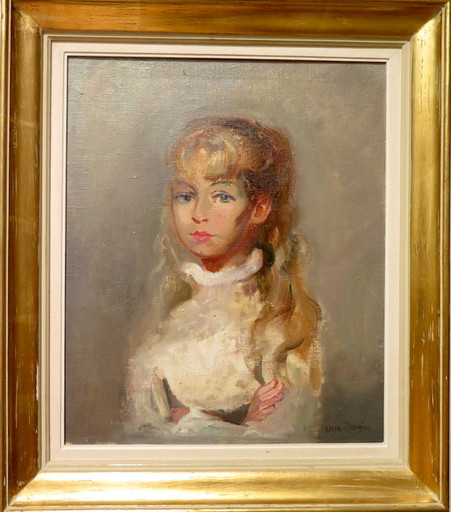 Antonio URIA MONZON - Painting - Jeune fille