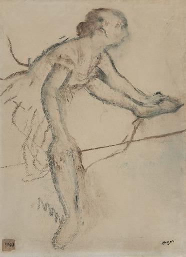 Edgar DEGAS - Dibujo Acuarela - Danseuse assise