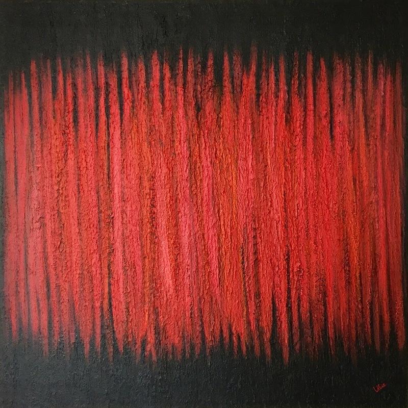Ulie SCHWAB - Painting - Red Vision