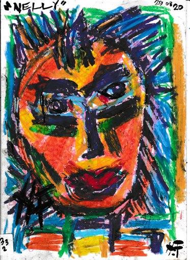 Harry BARTLETT FENNEY - Disegno Acquarello - Nelly 2