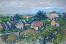 Bela Adalbert CZOBEL - Pintura - Landscape in the South of France