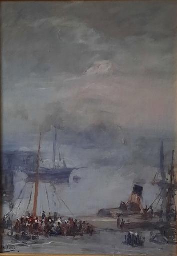 Armand G. G. JAMAR - Peinture - Le Port de Boulogne