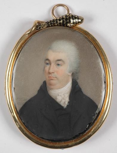 """J.T. MITCHELL - Miniatura - """"Portrait of a Gentleman"""", 1799, Miniature on Ivory"""