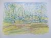 Madeleine LEON - Dibujo Acuarela - Lot de 6 aquarelles détaillées plus bas.