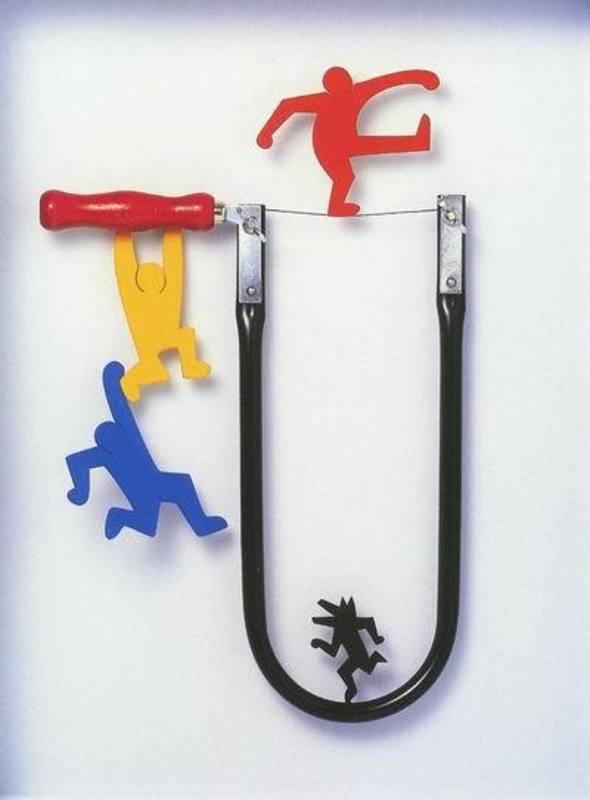 Volker KÜHN - Escultura - Homage to Keith Haring