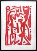 A.R. PENCK - Print-Multiple - ohne Titel (Rot)