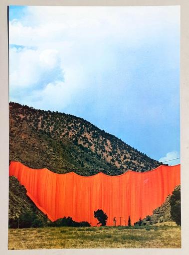 克里斯托 - 版画 - Valley curtain, Rifle - Colorado 3-4