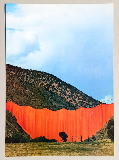CHRISTO - Druckgrafik-Multiple - Valley curtain, Rifle - Colorado 3-4