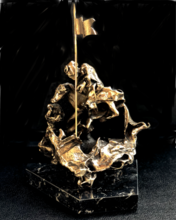 Salvador DALI - Escultura - Saint George terrassant le dragon
