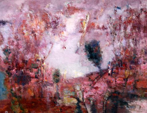 Levan URUSHADZE - Peinture - Landscape at the lake