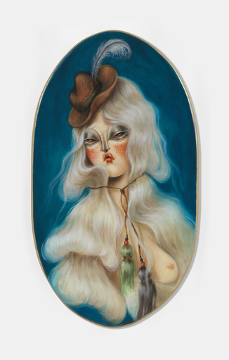 MISS VAN - Peinture - White Hair Muse II