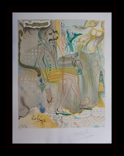 Salvador DALI - Grabado - The Marquis de Sade The Twins Outwit Damis