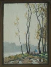 Alexandre JACOB - Drawing-Watercolor - matin d'automne